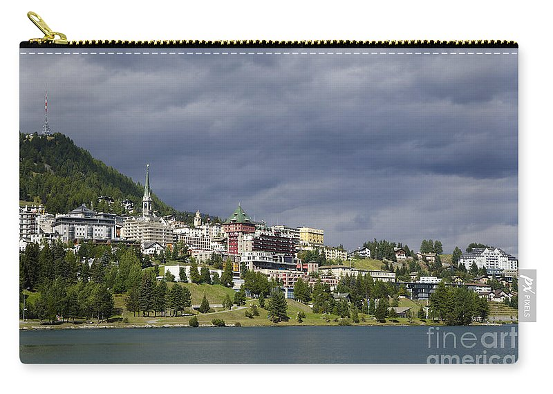 St Moritz Carry-all Pouch featuring the photograph St Moritz In Switzerland by Mats Silvan