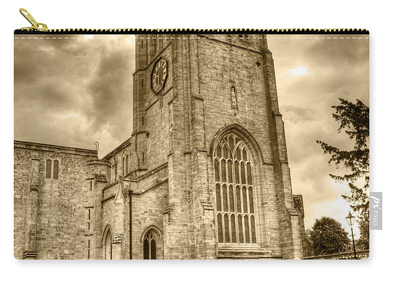 Christchurch Carry-all Pouch featuring the photograph The Priory by Chris Day