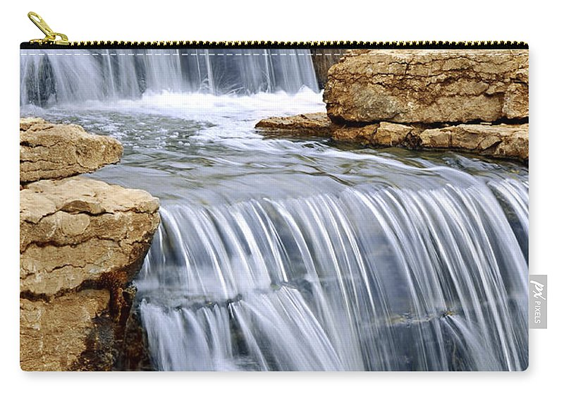Waterfall Carry-all Pouch featuring the photograph Waterfall by Elena Elisseeva