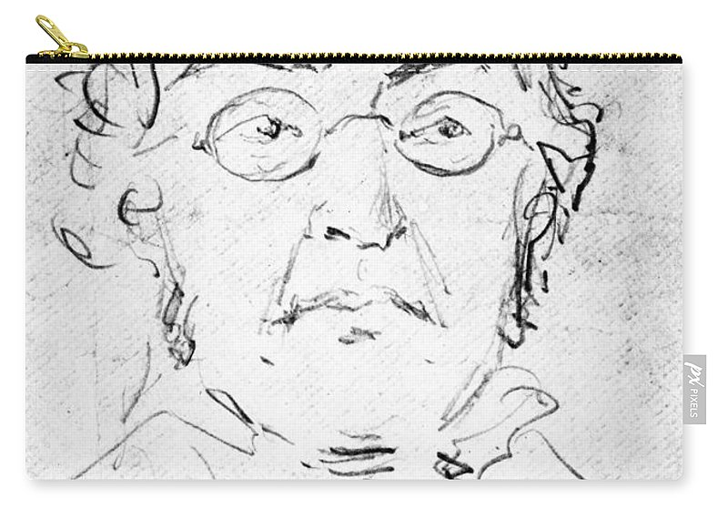 19th Century Carry-all Pouch featuring the photograph William M. Thackeray by Granger