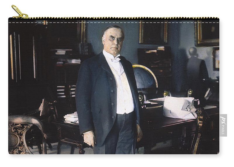 1898 Carry-all Pouch featuring the photograph William Mckinley (1843-1901): by Granger