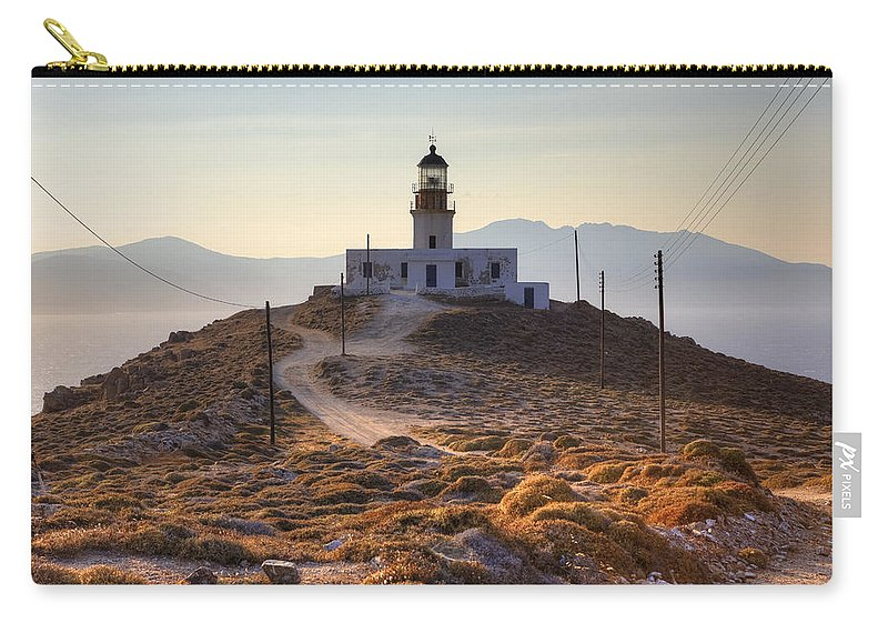 Mykonos Carry-all Pouch featuring the photograph Mykonos by Joana Kruse