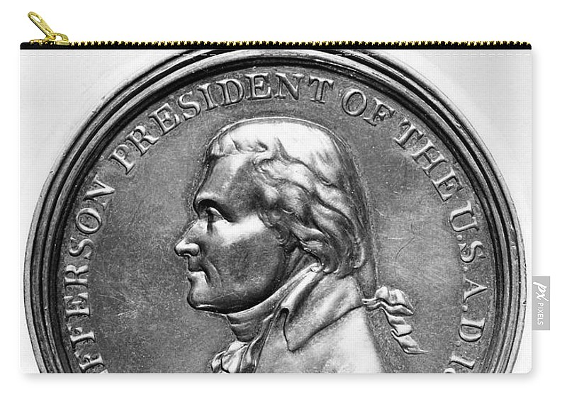 1801 Carry-all Pouch featuring the photograph Thomas Jefferson (1743-1826) by Granger