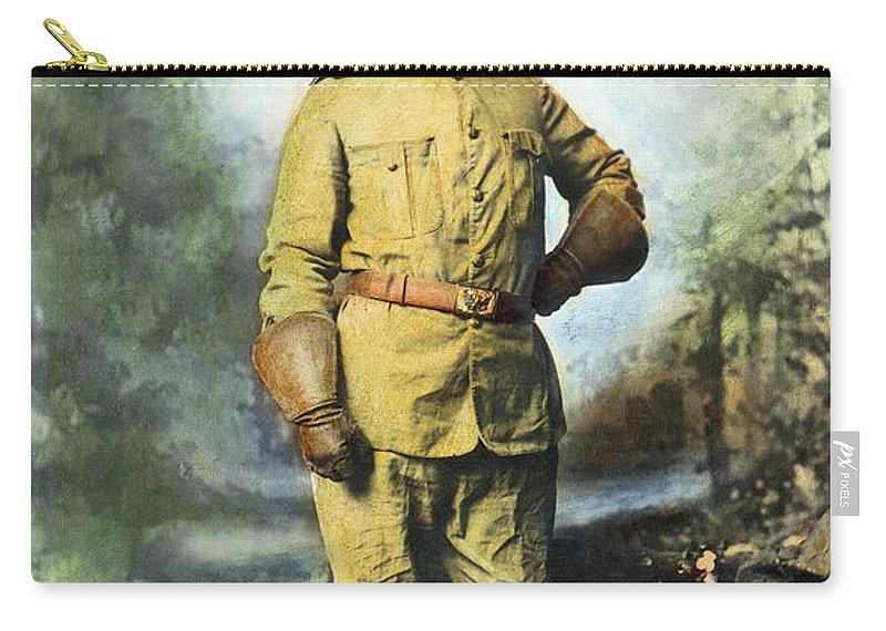 1898 Carry-all Pouch featuring the photograph Theodore Roosevelt by Granger