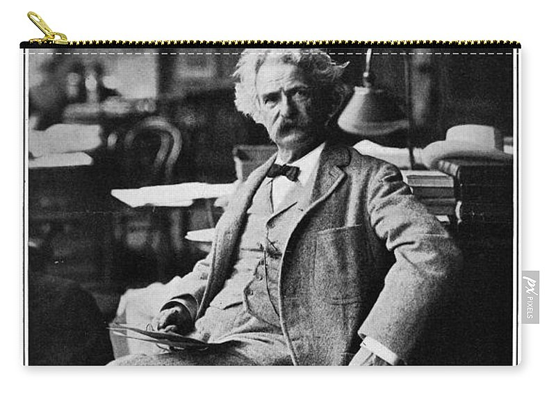 1910 Carry-all Pouch featuring the photograph Samuel Langhorne Clemens by Granger