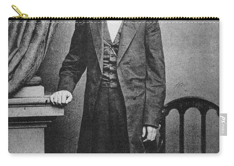 1863 Carry-all Pouch featuring the photograph Abraham Lincoln by Granger