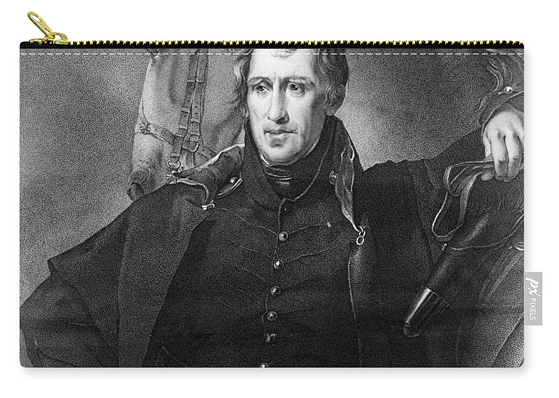1820 Carry-all Pouch featuring the photograph Andrew Jackson (1767-1845) by Granger