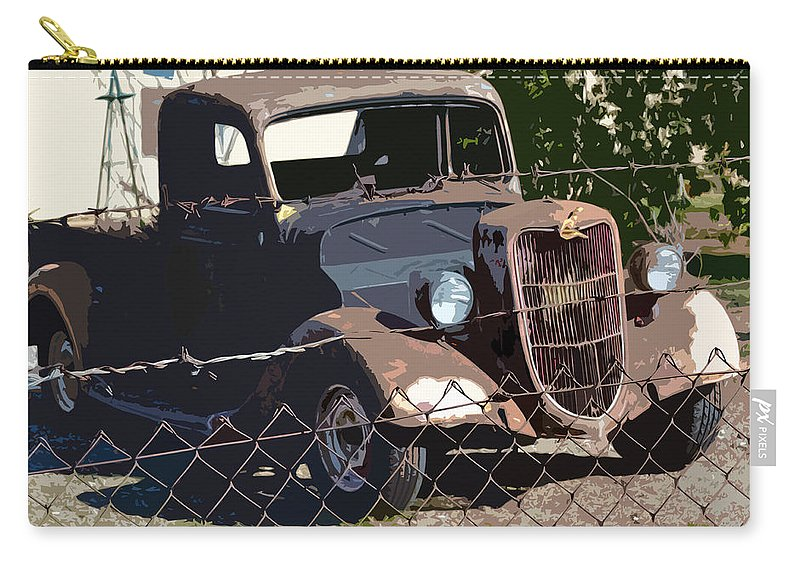 1936 Ford. Paintography Carry-all Pouch featuring the photograph '36 Ford by Bill Owen