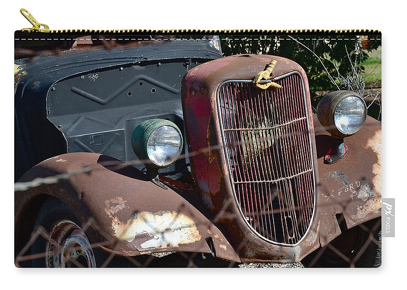 1936 Ford Carry-all Pouch featuring the photograph '36 Ford II by Bill Owen