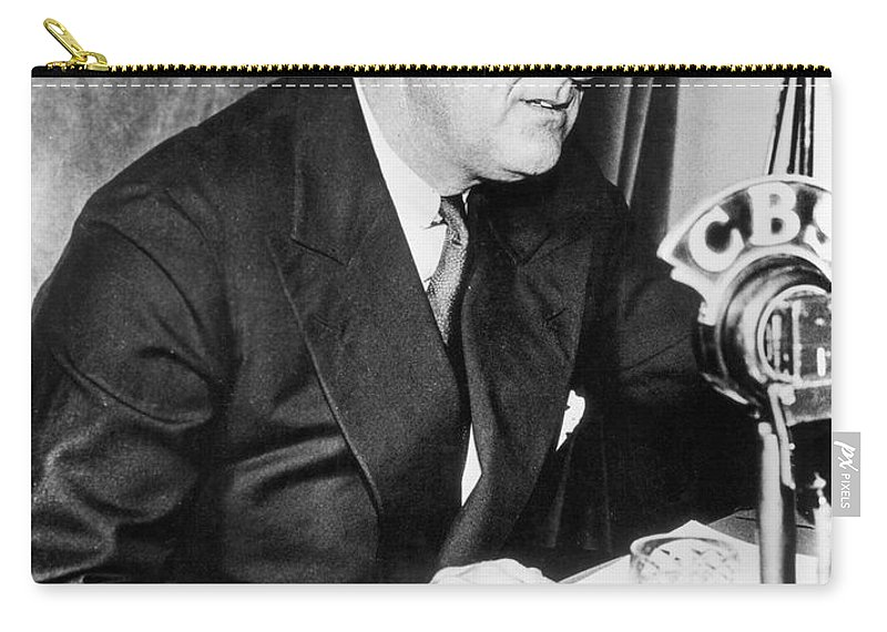 1938 Carry-all Pouch featuring the photograph Franklin D. Roosevelt by Granger