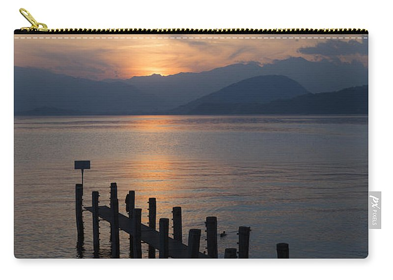 Lake Maggiore Carry-all Pouch featuring the photograph Lake Maggiore by Joana Kruse