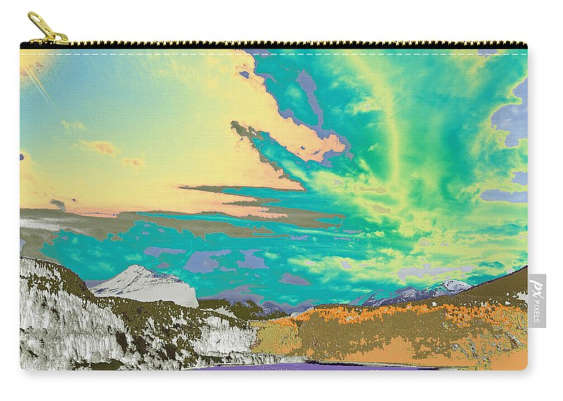 Augusta Stylianou Carry-all Pouch featuring the digital art Space Landscape by Augusta Stylianou