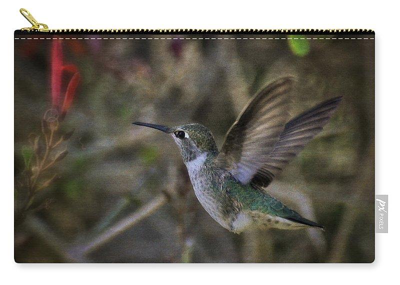 Anna's Hummingbird Carry-all Pouch featuring the photograph Anna's Hummingbird by Saija Lehtonen