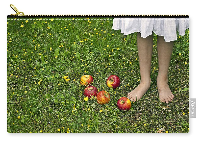 Girl Carry-all Pouch featuring the photograph Apples by Joana Kruse