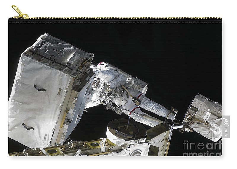 Horizontal Carry-all Pouch featuring the photograph Astronaut Participates by Stocktrek Images