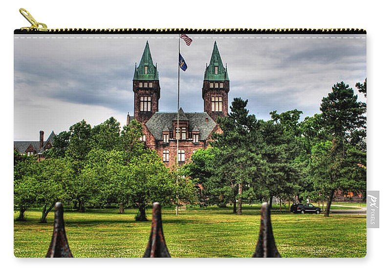 Carry-all Pouch featuring the photograph Buffalo Psychiatric Center by Michael Frank Jr