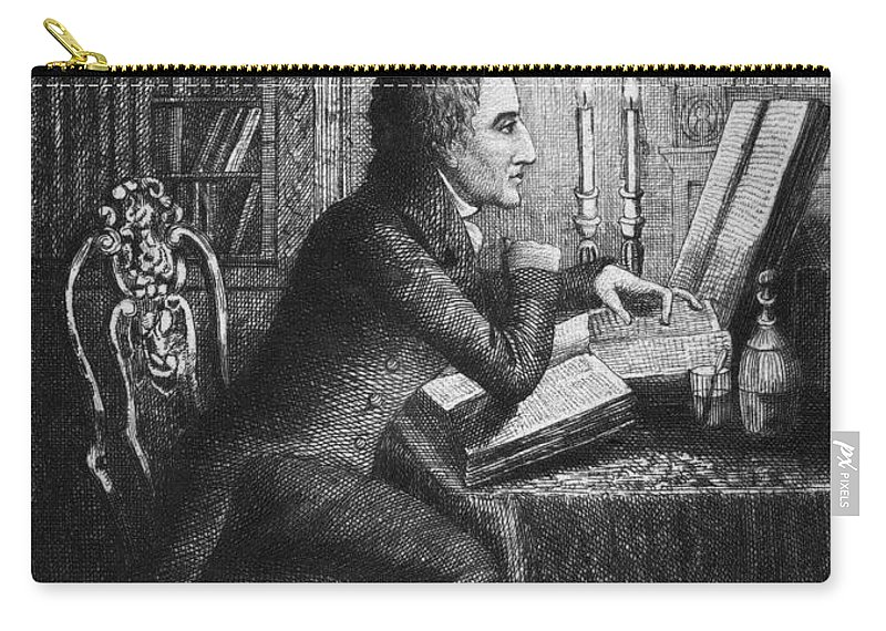 18th Century Carry-all Pouch featuring the photograph Charles Lamb (1775-1834) by Granger