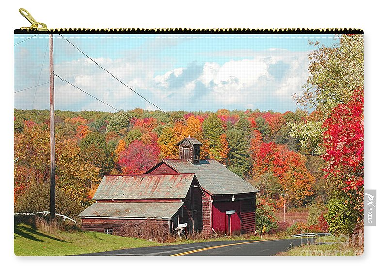 Fall Leaves Carry-all Pouch featuring the photograph Coxsackie New York State by Mark Gilman