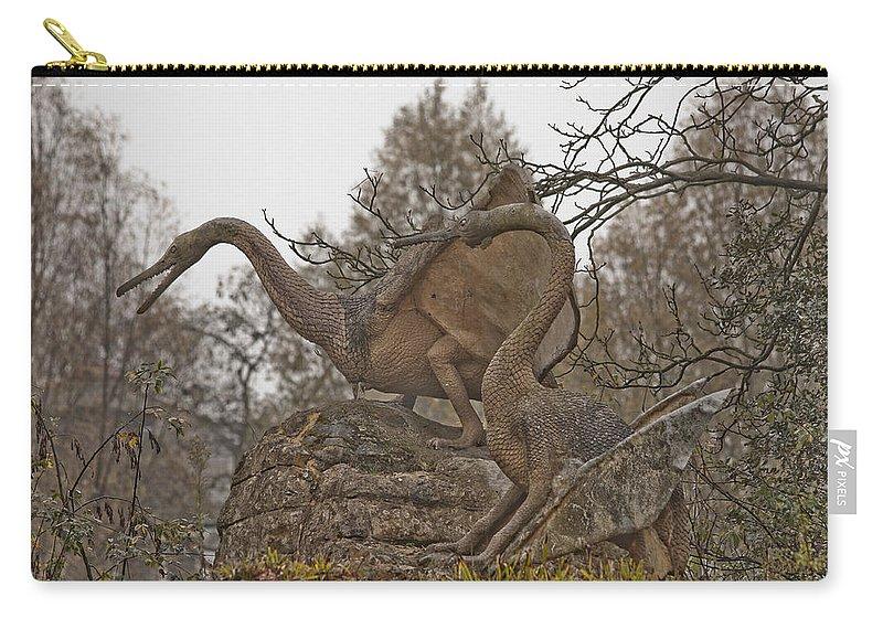 Dinosaur Carry-all Pouch featuring the photograph Dinosaur by Dawn OConnor