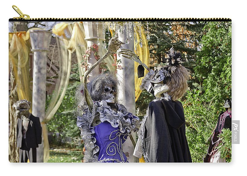 Autumn Carry-all Pouch featuring the photograph Fall Halloween On Tillson Street by LeeAnn McLaneGoetz McLaneGoetzStudioLLCcom