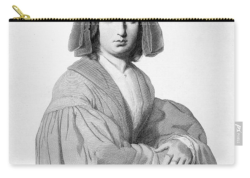 1840 Carry-all Pouch featuring the photograph George Sand (1804-1876) by Granger