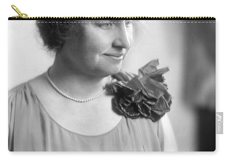 1920 Carry-all Pouch featuring the photograph Helen Adams Keller by Granger