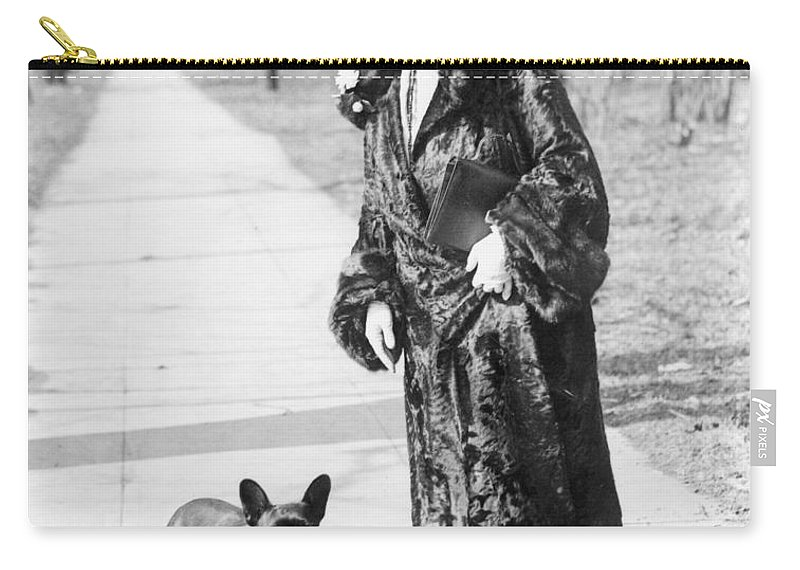1930s Carry-all Pouch featuring the photograph Mary Roberts Rinehart by Granger
