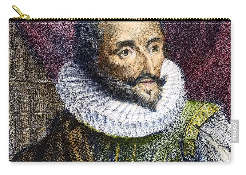 16th Century Carry-all Pouch featuring the photograph Miguel De Cervantes by Granger