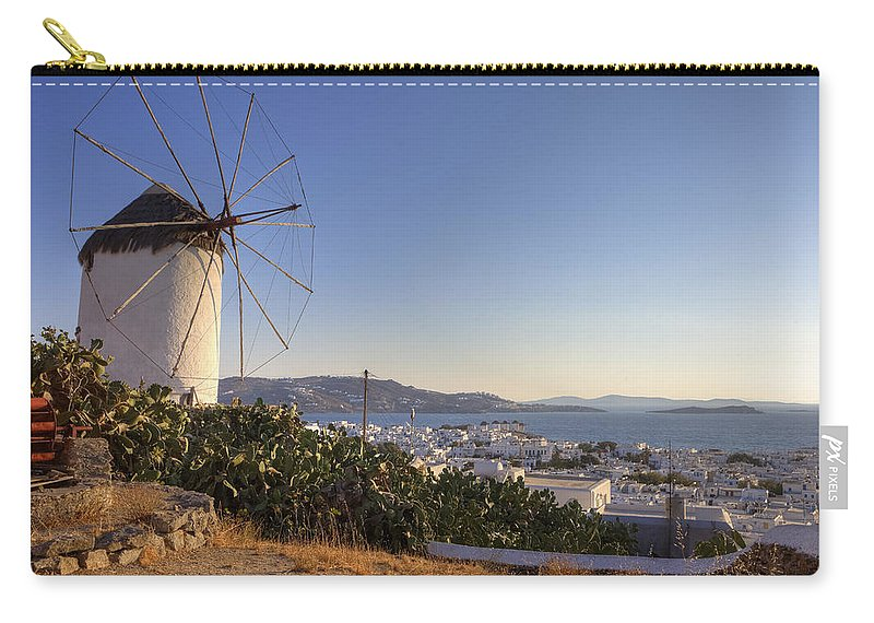 Ano Myli Carry-all Pouch featuring the photograph Mykonos by Joana Kruse