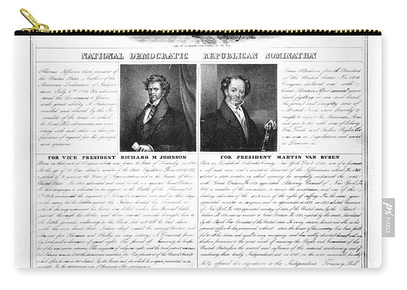 1840 Carry-all Pouch featuring the photograph Presidential Campaign 1840 by Granger