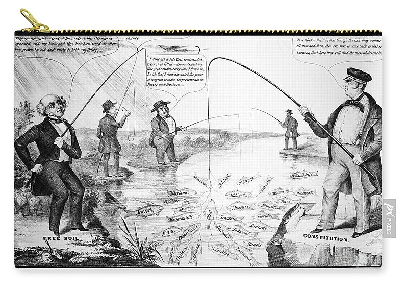 1848 Carry-all Pouch featuring the photograph Presidential Campaign, 1848 by Granger