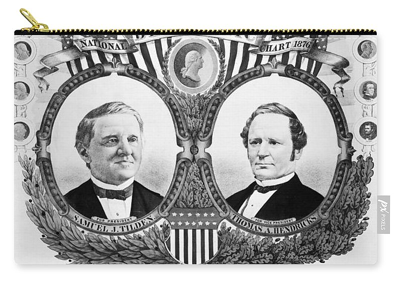 1876 Carry-all Pouch featuring the photograph Presidential Campaign, 1876 by Granger