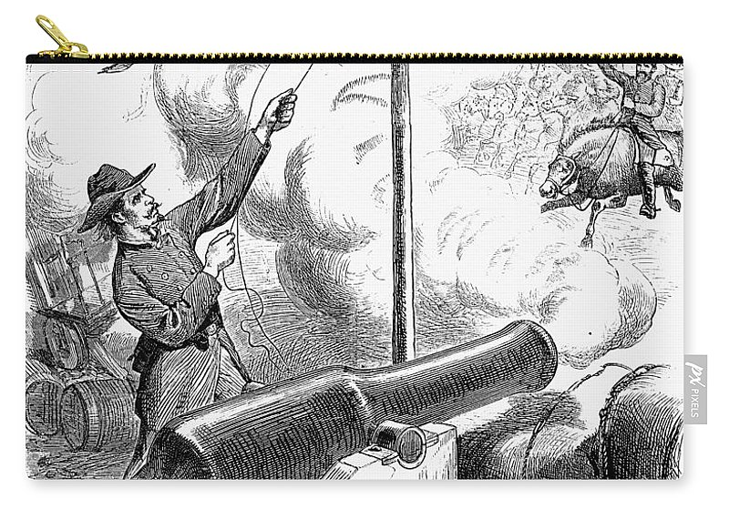 1874 Carry-all Pouch featuring the photograph Reconstruction Cartoon by Granger