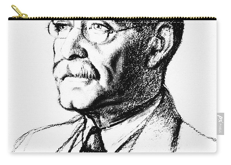 19th Century Carry-all Pouch featuring the photograph Rudyard Kipling (1865-1936) by Granger
