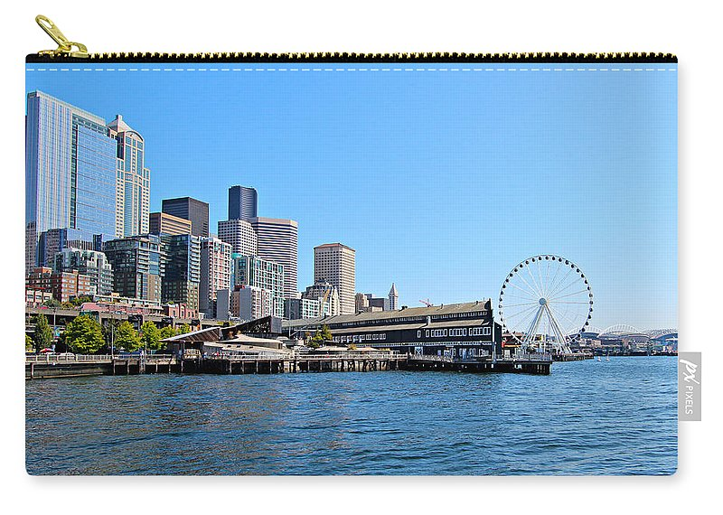 Architecture Carry-all Pouch featuring the photograph Seattle by Paul Fell