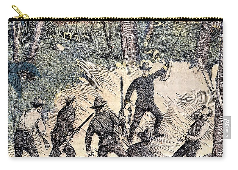 1898 Carry-all Pouch featuring the photograph Spanish-american War, 1898 by Granger