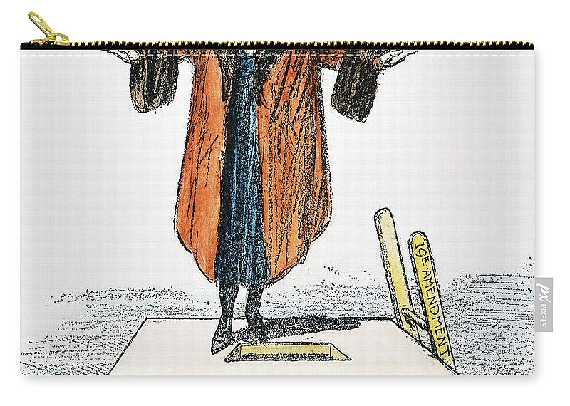 1920 Carry-all Pouch featuring the photograph Womens Rights Cartoon by Granger