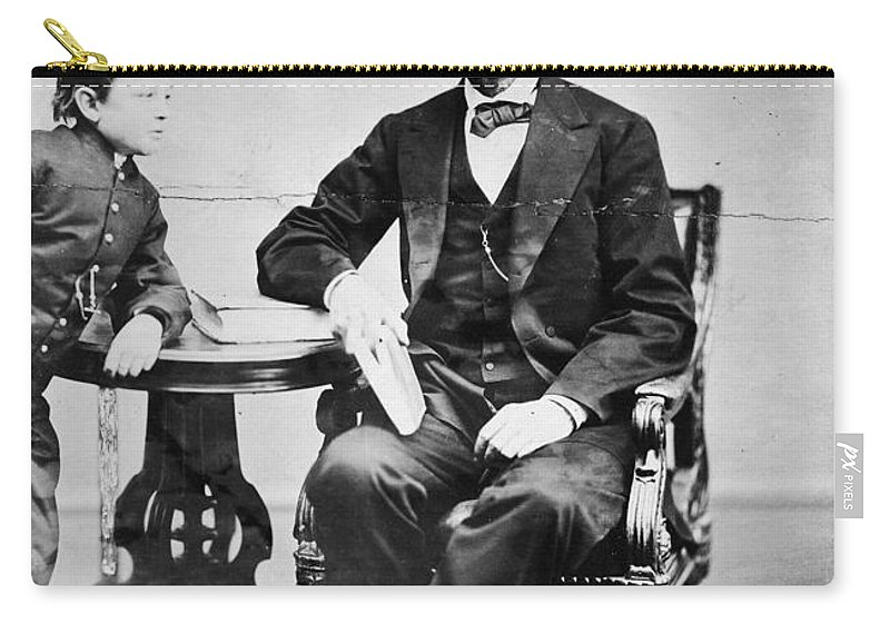 1865 Carry-all Pouch featuring the photograph Abraham Lincoln by Granger