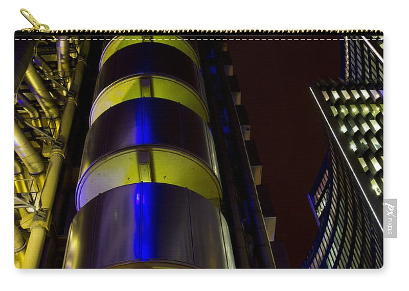 Lloyds Carry-all Pouch featuring the photograph Lloyd's Building London by David Pyatt
