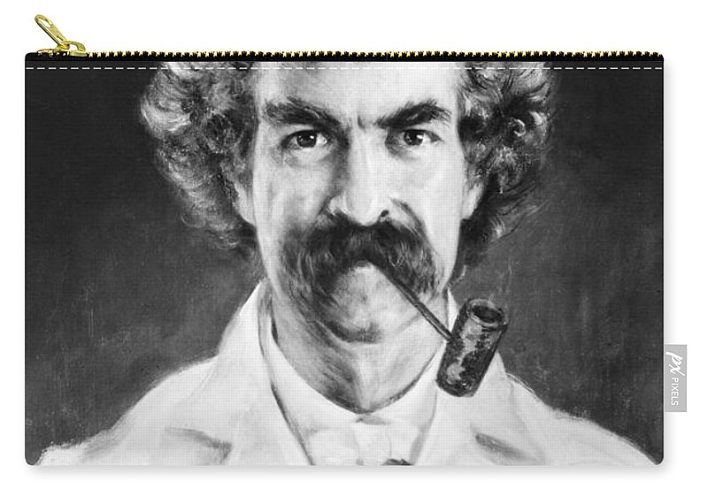 1890 Carry-all Pouch featuring the photograph Samuel Langhorne Clemens by Granger