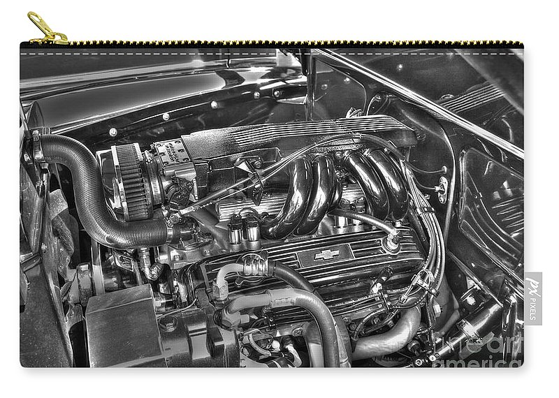 Chevy Carry-all Pouch featuring the photograph 48 Chevy Block by Anthony Wilkening