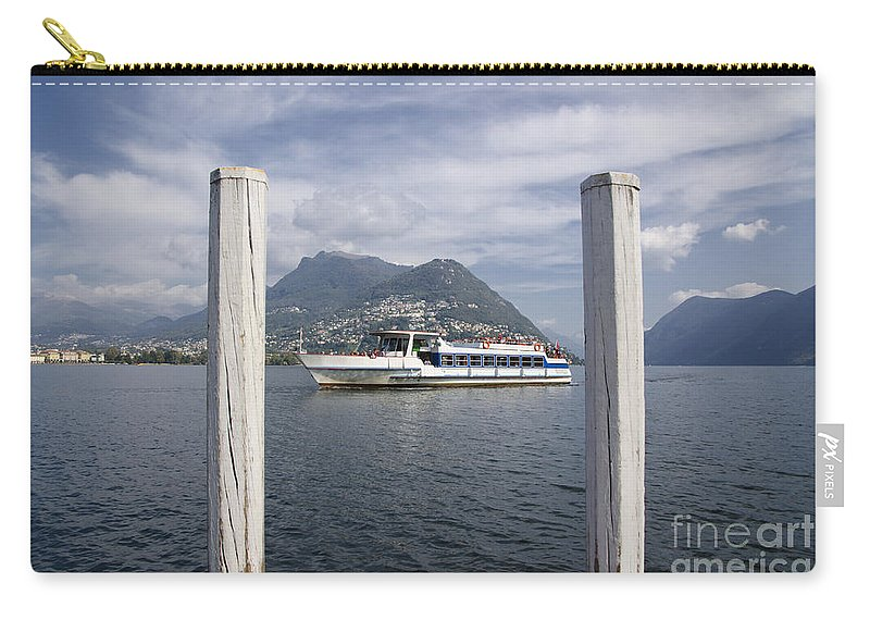Lake Carry-all Pouch featuring the photograph Alpine Lake by Mats Silvan