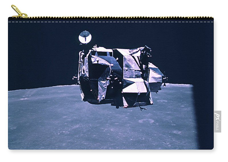 Apollo 16 Carry-all Pouch featuring the photograph Apollo Mission 16 by Nasa