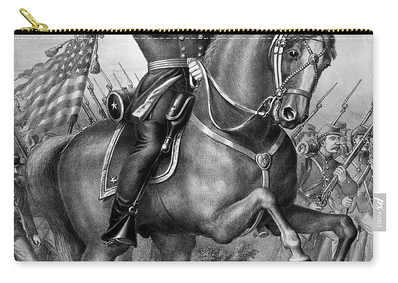 1864 Carry-all Pouch featuring the photograph Benjamin Harrison by Granger