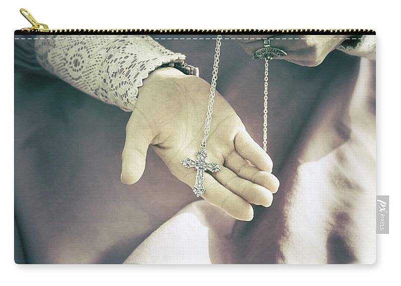 Woman Carry-all Pouch featuring the photograph Crucifix by Joana Kruse