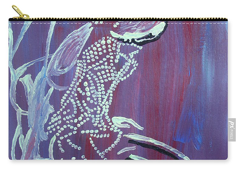 Carry-all Pouch featuring the painting Dinka Bride - South Sudan by Gloria Ssali