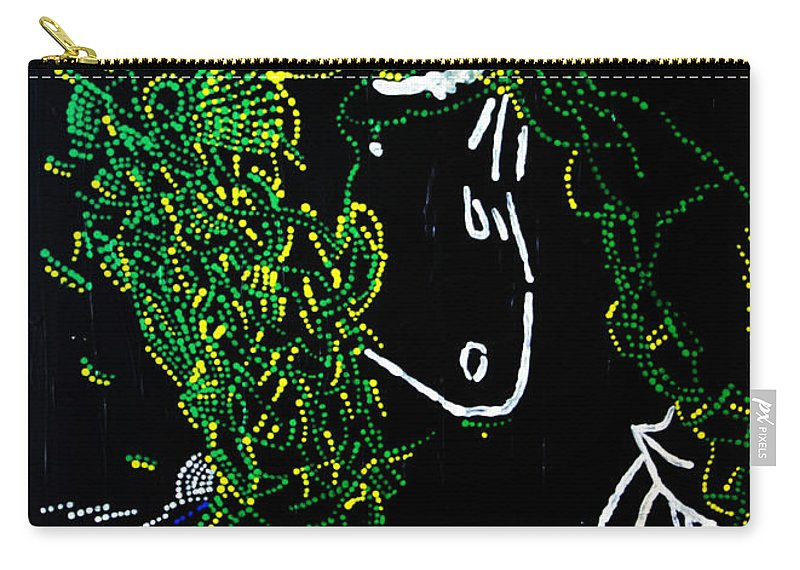 Jesus Carry-all Pouch featuring the painting Dinka Dance - South Sudan by Gloria Ssali