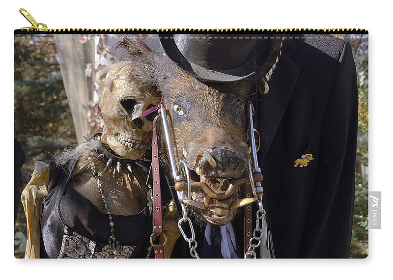 Autumn Carry-all Pouch featuring the photograph Fall Halloween On Tillson Street by LeeAnn McLaneGoetz McLaneGoetzStudioLLCcom