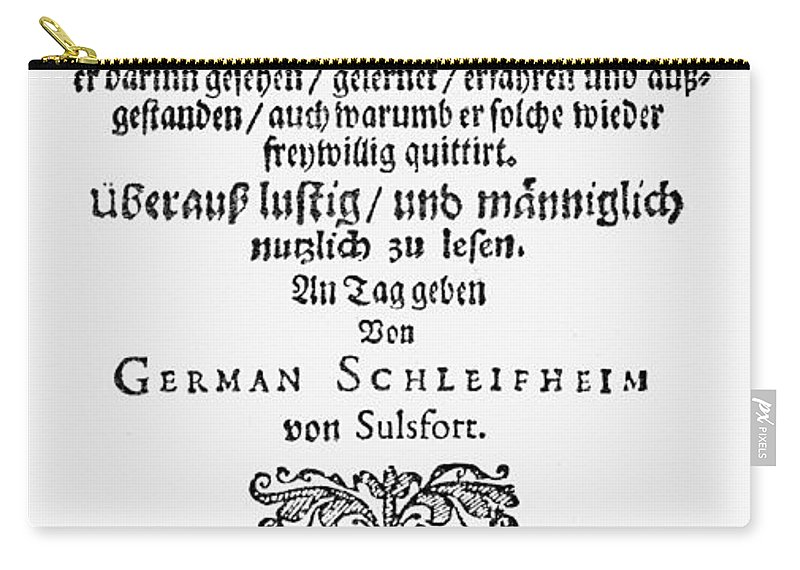 1659 Carry-all Pouch featuring the photograph Hans Von Grimmelshausen by Granger