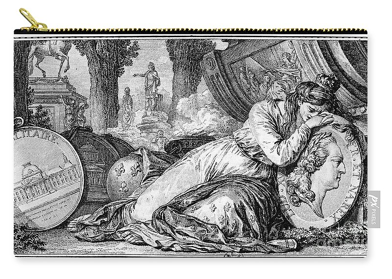 1774 Carry-all Pouch featuring the photograph Louis Xv (1710-1774) by Granger
